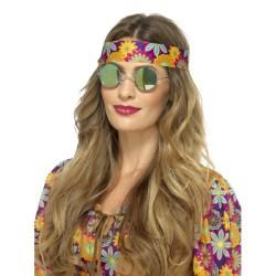 Gafas hippie de espejo verdes y azules