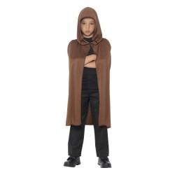 Capa con capucha marron para niño