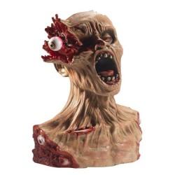 Busto de zombie realista ojo explotado