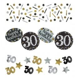 Confeti 30 cumpleaños celebracion oro 34 gr
