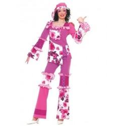 Disfraz hippye mujer talla m