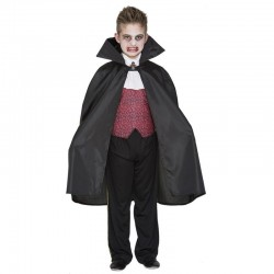 Capa vampiro negra infantil para niño
