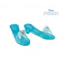 Zapatos elsa princesa frozen hielo azules