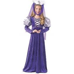 Disfraz reina medieval infantil 8 10 anos