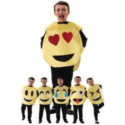 Disfraz emoticono caras personalizable para niño 8-10 años