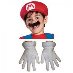 Guantes gorra y bigote Mario Bros nino infantil