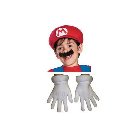 Guantes gorra y bigote Mario Bros niño infantil ... 4dd4a830476