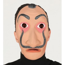 Careta similar a Salvador Dali pintor ladron de casa