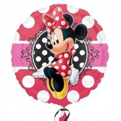 Globo Minnie rojo lunares 45 cm Helio o aire