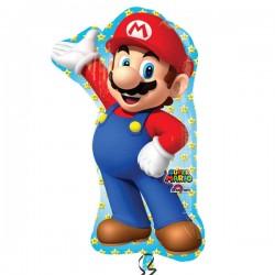 Globo Super Mario Bros grande 55x83 cm helio o aire
