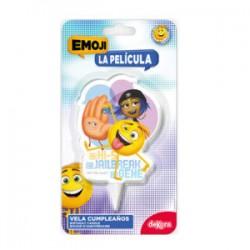 Vela Emoji figura de 7,5 cm para tarta de cumpleaños