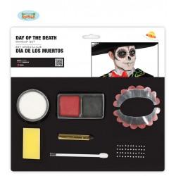 Kit de maquillaje para dia de muertos catrin o catrina