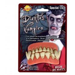 Dentadura de vampiro doble con pasta termoplastica