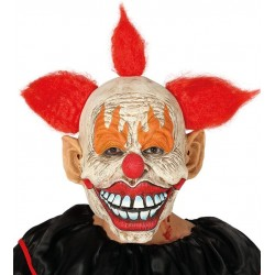 Mascara Payaso asesino de latex con pelo halloween