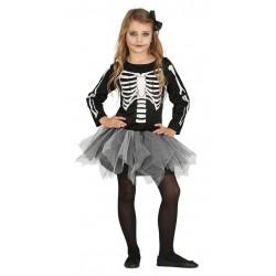 Disfraz esqueleto con tutu para niña tallas