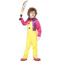 Disfraz payaso diabolico para nino tallas infantil halloween