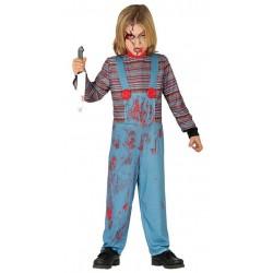 Disfraz muneco diabolico para nino tallas infantil