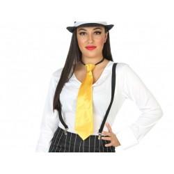 Corbata amarilla de fiesta y carnaval