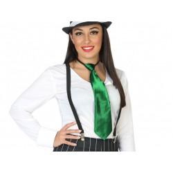 Corbata verde de fiesta y carnaval