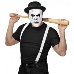 Mascara payaso arlequin asesino con bombin