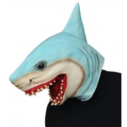 Mascara tiburon azul asesino cabeza completa