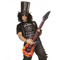 Guitarra electrica hinchable fuego en llamas 105 cm