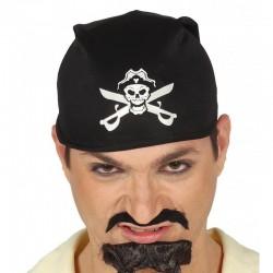 Panuelo pirata negro con calavera