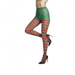 Pantys rayas verdes y rojas elfa