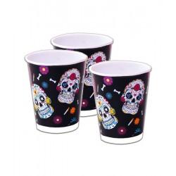 Vasos calaveras dia de muertos halloween 8 uds Coco