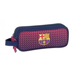 Estuche Futbol Club Barcelona triple cremallera con asa colgar