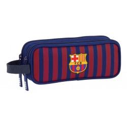 Estuche Futbol Club Barcelona doble cremallera con asa colgar