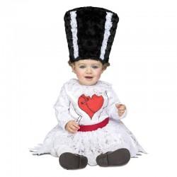 Disfraz novia de Frankie para bebe