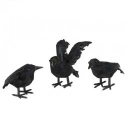 Cuervo volando unidad para decoracion halloween 16 cm
