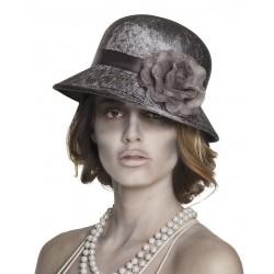 Sombrero mujer fantasma con flor