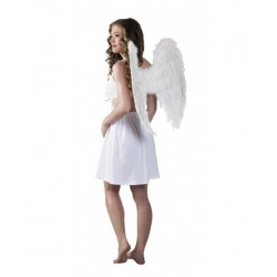 Alas angel de plumas blancas 62 x 60 cm