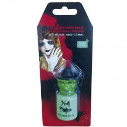 Pintaunas verde bruja para halloween
