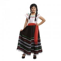 Disfraz mejicana falda negra para niña tallas