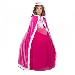 Capa rosa para nina con capucha talla unica
