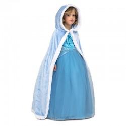 Capa azul para nina con capucha talla unica