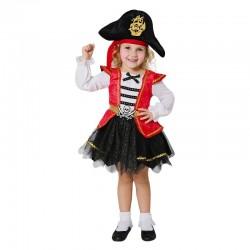 Disfraz pirata del caribe con falda para niña tallas
