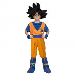 Disfraz de Goku con peluca para nino talla 5 6 anos original