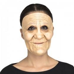 Mascara de abuela mujer anciana