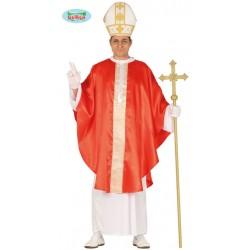 Disfraz papa rojo para hombre talla L 52-54