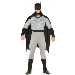 Disfraz batman gris para hombre tallas
