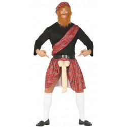 Disfraz escoces salido con pene hombre