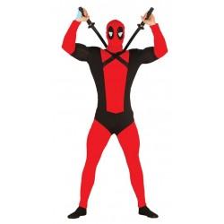 Disfraz antiheroe rojo Dead para hombre talla L