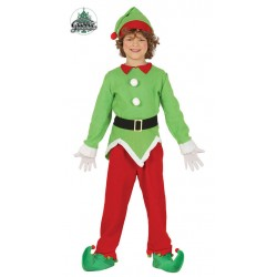 Disfraz elfo verde y rojo nino navidad tallas