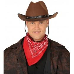 Sombrero vaquero marron cowboy del oeste
