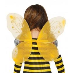 Alas amarillas infantiles de 44x37 cm abeja