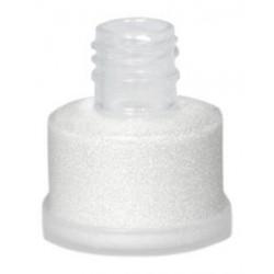 Purpurina blanca suelta grimas con aplicador facil